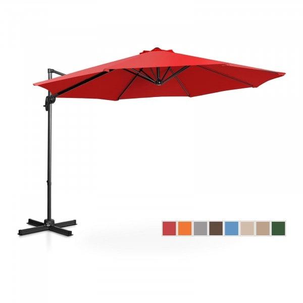 Occasion Parasol de jardin - Rouge - Rond - Ø 300 cm - Pivotant