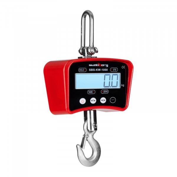 Crochet peseur rouge - 1000kg / 0,2kg