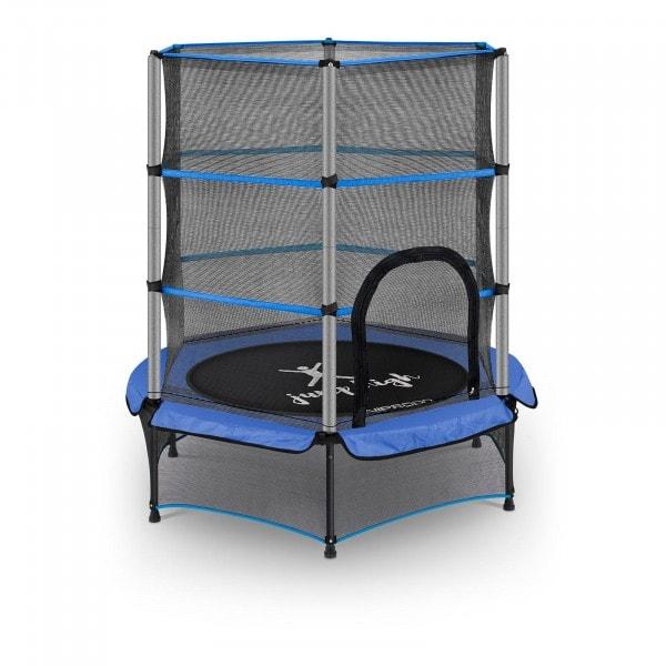 Occasion Trampoline pour enfants avec filet de sécurité - 140 cm - 50 kg - Bleu
