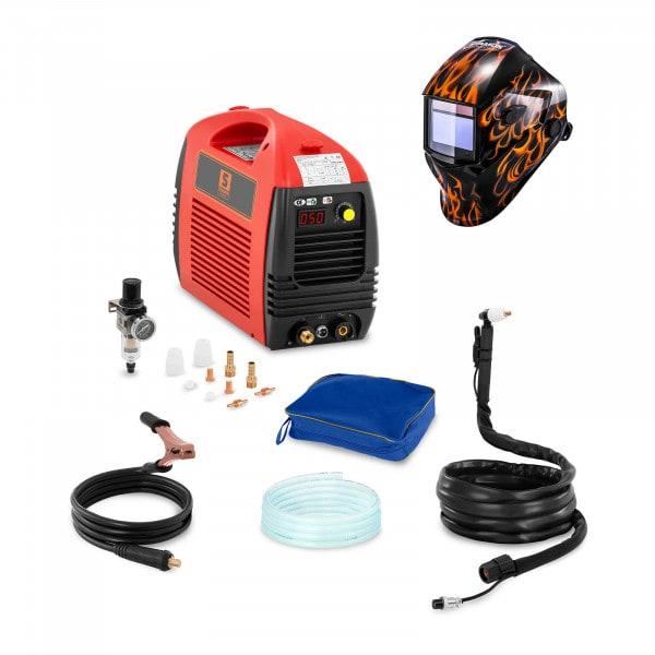Set d'équipement de soudage Découpeur plasma - 50A - 230V + Masque de soudure –Firestarter 500 – ADVANCED SERIES