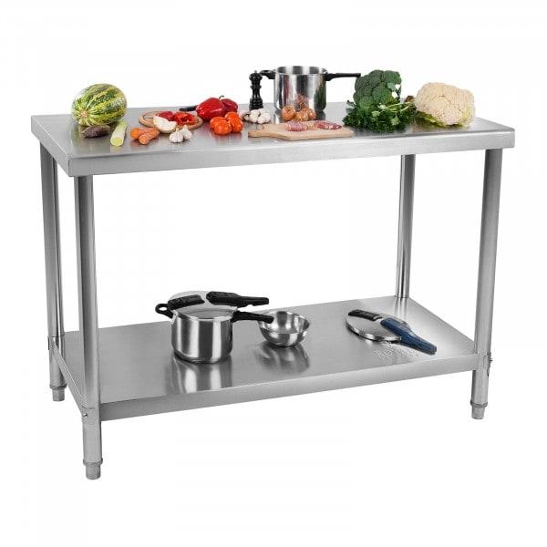 Occasion Table de travail inox - 120 x 60 cm - Capacité de 110 kg