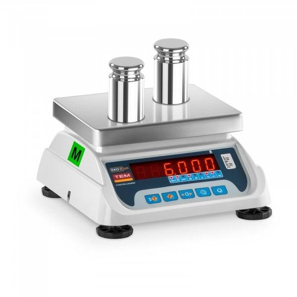 Occasion Balance poids-prix - Calibrage certifié - 3 kg / 1 g - 6 kg / 2 g - LED