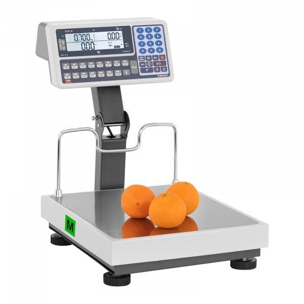 Occasion Balance poids prix avec écran sur trépied - calibré - 30 kg / 10 g - 60 kg / 20 g