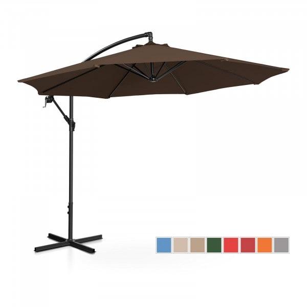 Occasion Parasol de jardin - marron - rond - Ø 300 cm - inclinable