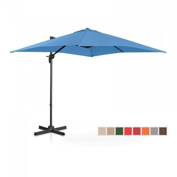 Occasion Parasol de jardin - Bleu - Carré - 250 x 250 cm - Pivotant
