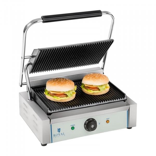 B-WARE Machine à panini nervurée - 1 x 2.200 watts