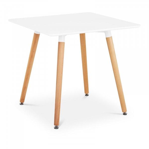 Occasion Table - Plateau carré - 80 x 80 cm - Coloris blanc