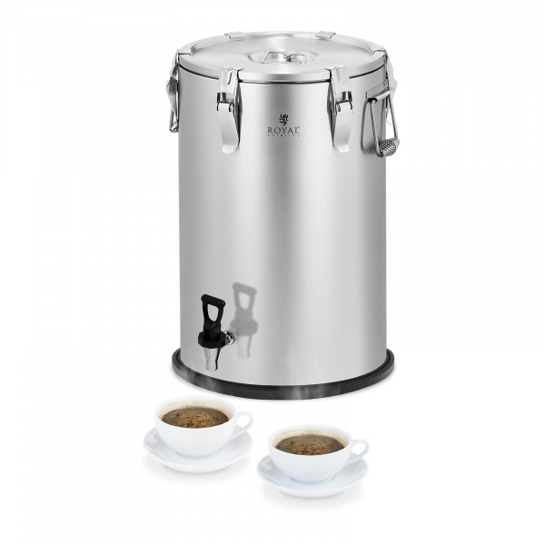 Conteneur isotherme - acier inoxydable - 35 L - avec robinet