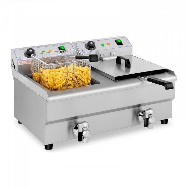 Occasion Friteuse électrique - 2 x 13 litres - Robinets de vidange