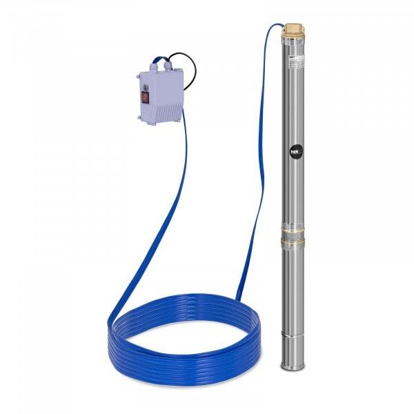 Pompe immergée - 3 800 L/h - 550 W - acier inoxydable