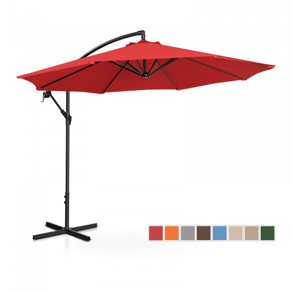 Occasion Parasol déporté - rouge - rond - Ø 300 cm - inclinable
