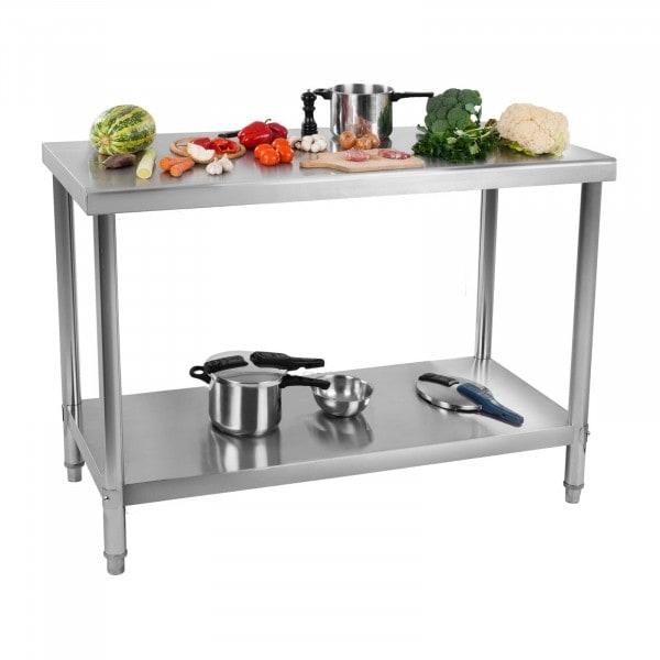 Occasion Table de travail en inox - 100 x 60 cm - Capacité de 114 kg