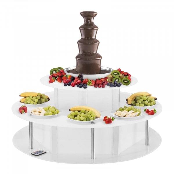 Set fontaine chocolat - 4 étages - 6 kg avec table lumineuse