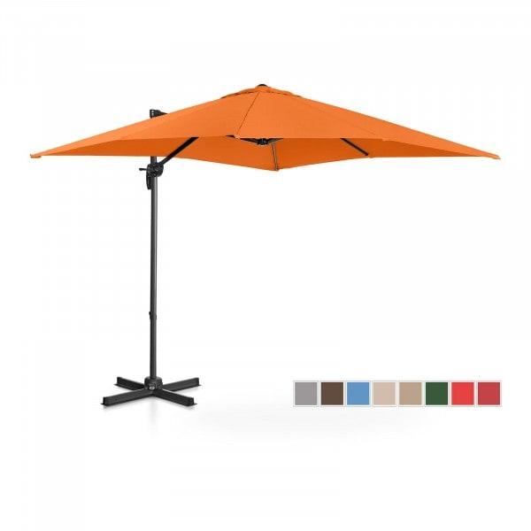 Occasion Parasol de jardin - Orange - Carré - 250 x 250 cm - Pivotant