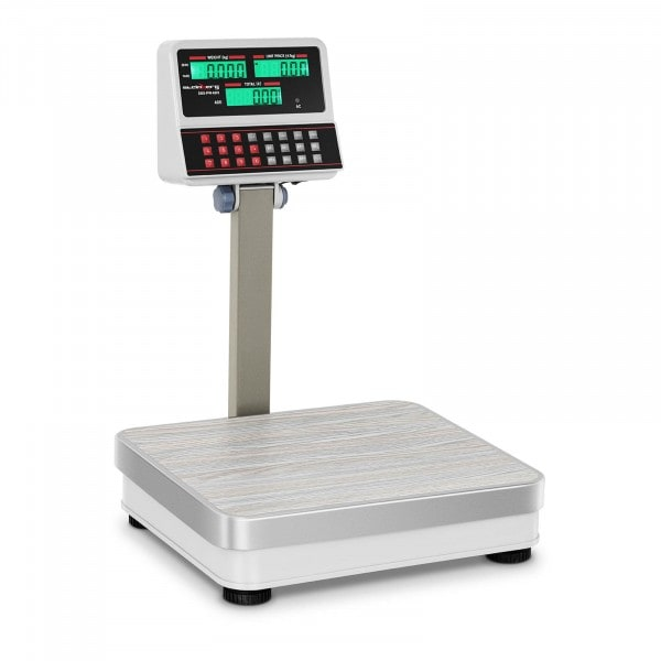 Balance poids-prix blanche - 60kg/5g - LCD