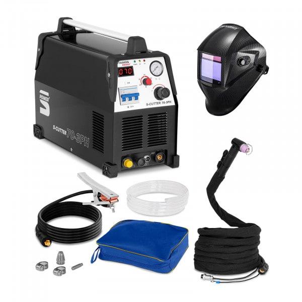 Set d'équipement de soudage Découpeur plasma - 70A - 400V + Masque de soudure – Carbonic – PROFESSIONAL SERIES