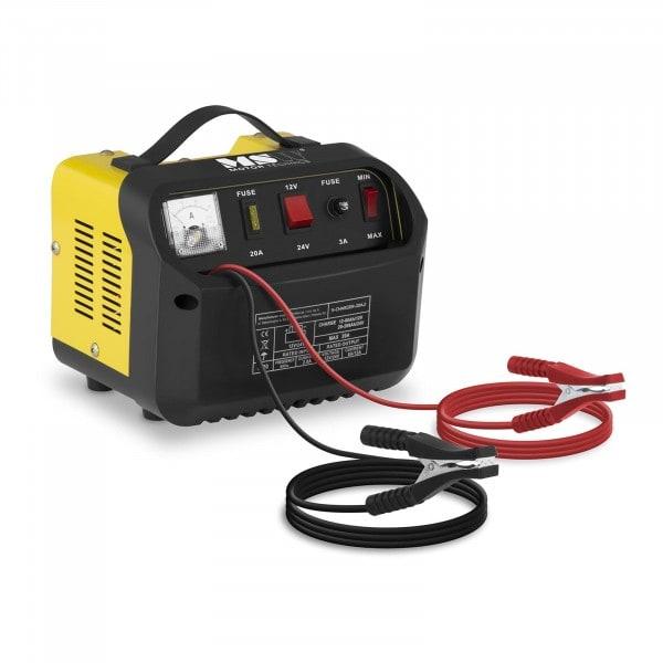 Chargeur de batterie voiture - 12/24 V - 8/12 A- panneau de commande incliné