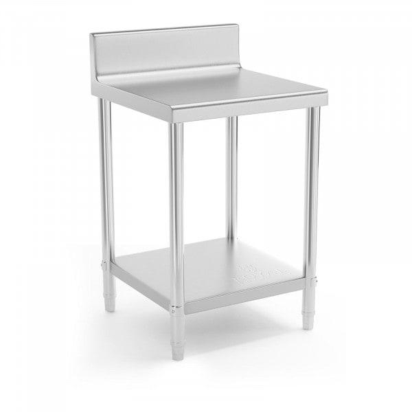 Occasion Table de travail en inox - 60 x 60 cm - Avec rebord - Capacité de charge de 150 kg