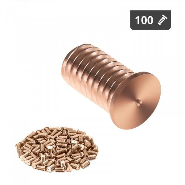 Goujons de soudage - M6 - 12 mm - Acier - 100 pièces