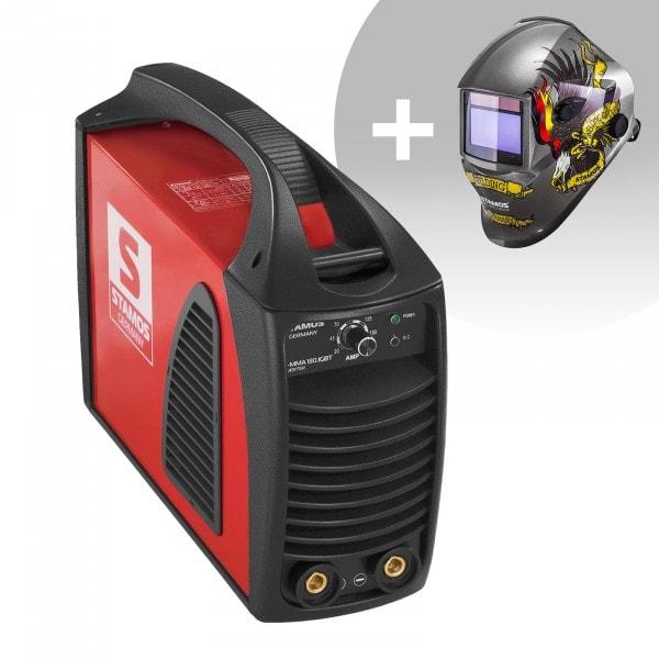 Set d'équipement de soudage Poste à souder à l'arc - 180A - Hot Start - IGBT + Masque de soudure – Eagle Eye – ADVANCED SERIES