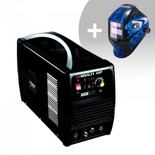 Set d'équipement de soudage Poste combiné - TIG 160A - Cut 40A - MMA - PRO + Masque de soudure – Sub Zero – EASY SERIES