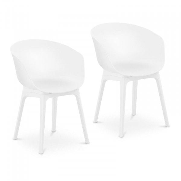 Occasion Chaise - Lot de 2 - 150 kg max. - Surface d'assise de 60 x 44 cm - Coloris blanc