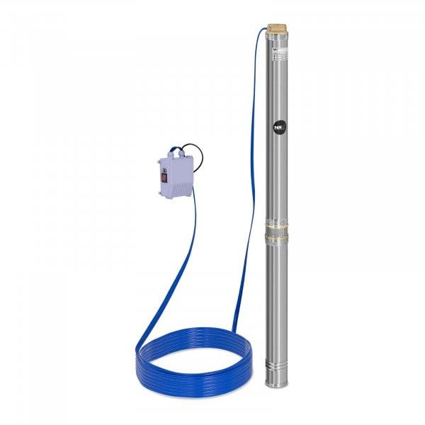 Pompe immergée - 10 800 L/h - 2 200 W - acier inoxydable