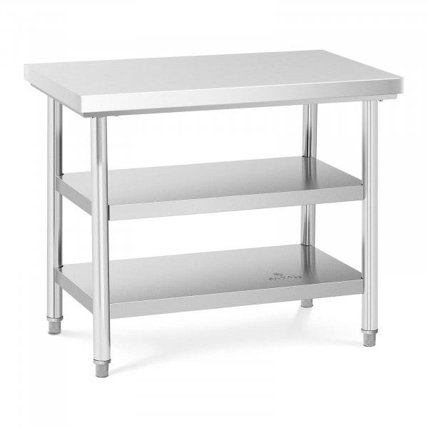 Occasion Table de travail inox - 100 x 60 cm - 600 kg - 3 niveaux