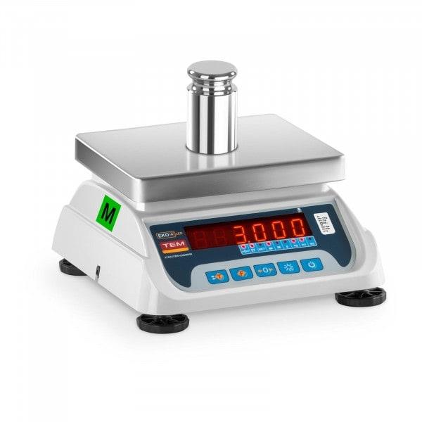 Occasion Balance poids-prix - Homologuée - 1,5 kg / 0,5 g - 3 kg / 1 g - LED