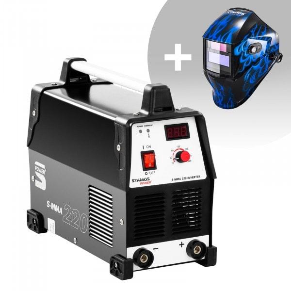 Set d'équipement de soudage Poste à souder à l'arc - 220A - 230V + Masque de soudure – Sub Zero – EASY SERIES
