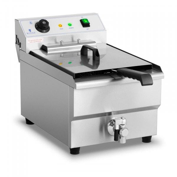 Occasion Friteuse électrique - 16 litres - 6 000 watts - Robinet de vidange - Zone froide