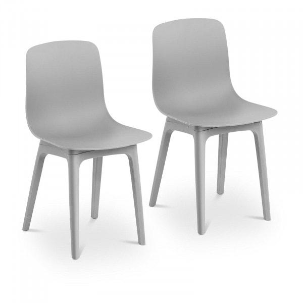 Occasion Chaise - Lot de 2 - 150 kg max. - Surface d'assise de 44 x 41 cm - Coloris gris