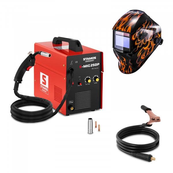 Set d'équipement de soudage Poste à souder MIG/MAG - 250A - 230V - portatif + Masque de soudure –Firestarter 500 – ADVANCED SERIES