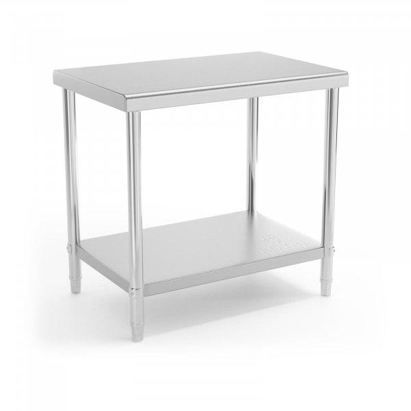 Occasion Table de travail en inox - 90 x 60 cm - Capacité de charge de 210 kg