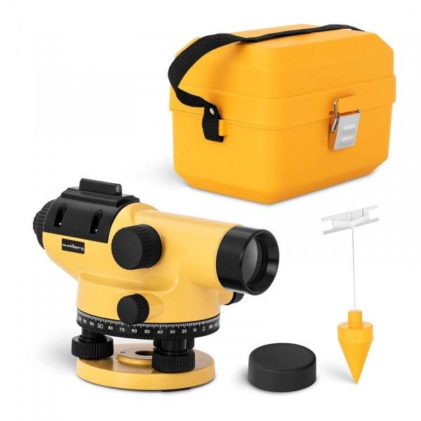 Occasion Niveau optique de chantier - Grossissement 32x - Objectif 38 mm - Écart 1 mm - Compensateur à amortissement magnétique - Aluminium
