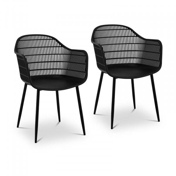 Occasion Chaise - Lot de 2 - 150 kg max. - Surface d'assise de 45 x 44 cm - Coloris noir