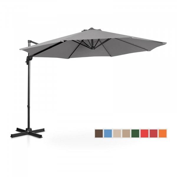 Occasion Parasol de jardin - Anthracite - Rond - Ø 300 cm - Pivotant