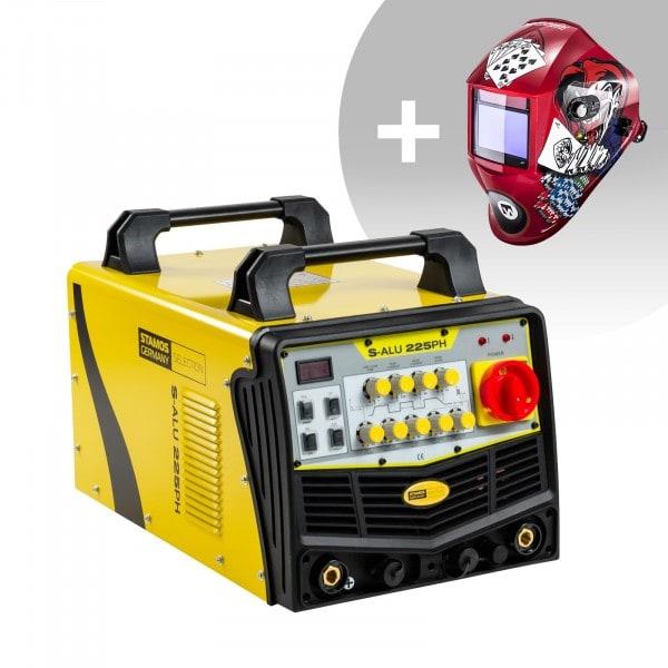 Set d'équipement de soudage Poste à souder aluminium - 225A - 230V - Puls + Masque de soudure – Pokerface – PROFESSIONAL SERIES