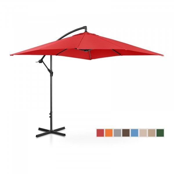 Occasion Parasol de jardin - rouge - carré - 250 x 250 cm - inclinable