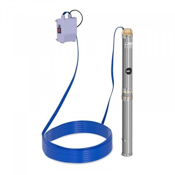 Pompe immergée - 3 800 L/h - 370 W - acier inoxydable