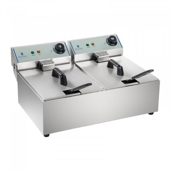B-WARE Friteuse électrique - 2 x 10 litres - ECO