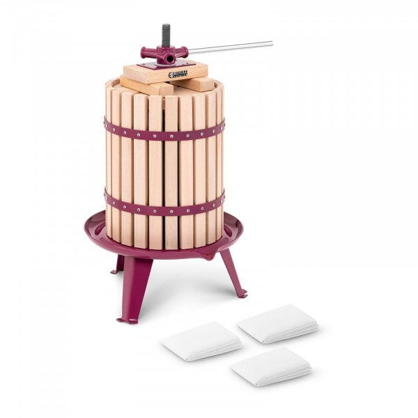 Occasion Pressoir manuel en bois - 18 l - Cales, sellette et 3 étamines