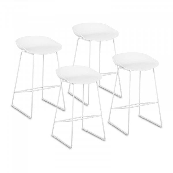 Occasion Tabouret de bar - Lot de 4 - 150 kg max. - Surface d'assise de 38 x 36 cm - Coloris blanc