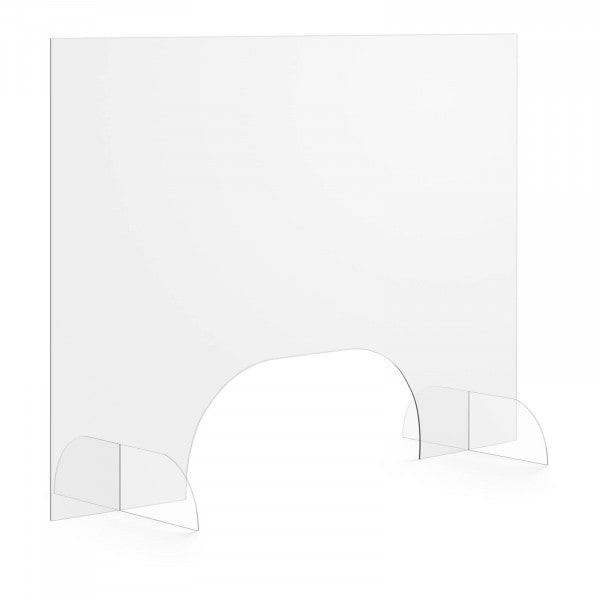 Occasion Pare-haleine - 100 x 70 cm - Verre acrylique - Passe-documents 50 x 20 cm