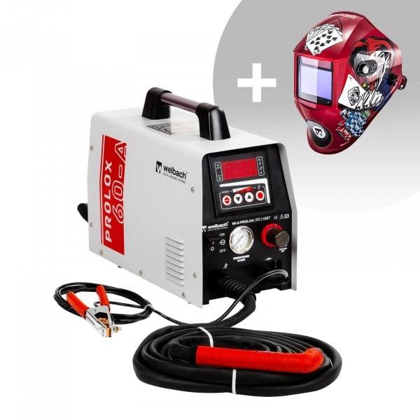 Set d'équipement de soudage Découpeur plasma - 40A - 230V - digital + Masque de soudure – Pokerface – PROFESSIONAL SERIES