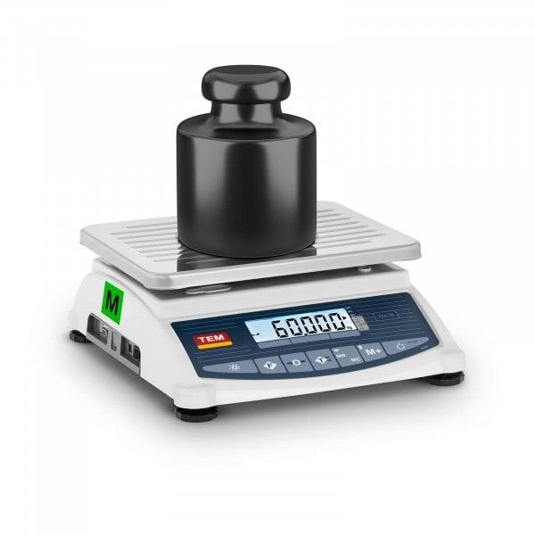 Occasion Balance de table - Calibrage certifié - 60 kg / 20 g - LCD - Mémoire