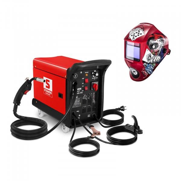 Set d'équipement de soudage Poste combiné - 195A - 230V - chariot + Masque de soudure – Pokerface – PROFESSIONAL SERIES