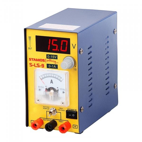 Occasion Bloc d'alimentation - 0-15 V , 0-1A DC