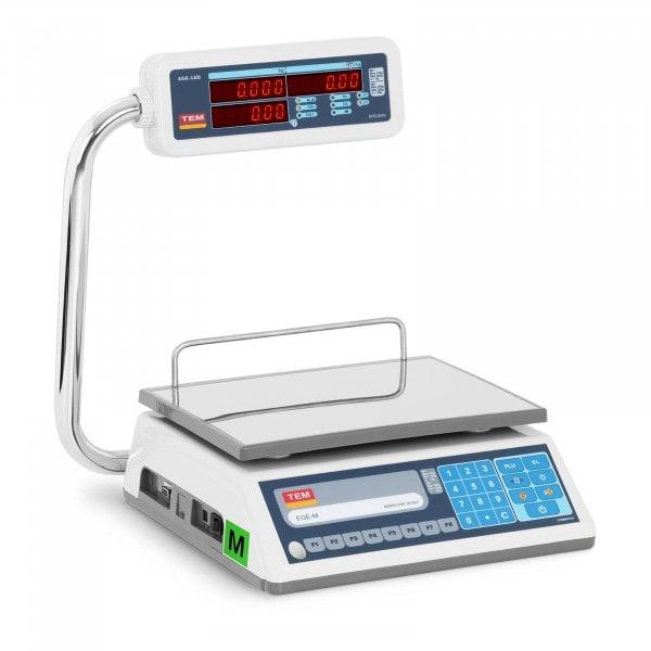 Occasion Balance poids-prix - Calibrage certifié - 30 kg - Écrans LED opposés