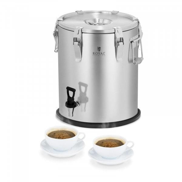 B-WARE Conteneur isotherme - acier inoxydable - 25 L - avec robinet